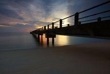 Free Dock Photo During Sunrise Stock Images - 83076134