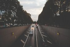 Free Black Car Passing On Tunnel During Sunset Royalty Free Stock Photo - 83076255