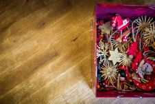 Free Brown Red Floral Decors In Red Box Stock Photo - 83076320