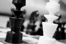 Free Chess Pieces On Board Stock Image - 83076421