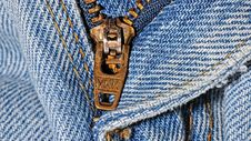 Free Zipper Close Up Royalty Free Stock Images - 83076429