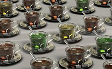 Free Clear Glass Teacup With Chocolate Drink Stock Image - 83076431