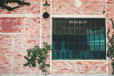 Free Industrial Building With Brick Wall Stock Image - 83076571