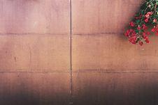 Free Flowers On Wood Paneled Fence Royalty Free Stock Image - 83076596