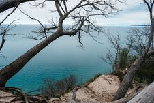 Free Cliff With Trees By Sea Stock Photos - 83076613