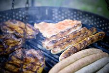 Free Grilled Meat And Sausage Royalty Free Stock Photography - 83076797