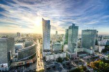 Free Panorama Of Warsaw City Center Stock Image - 83077021