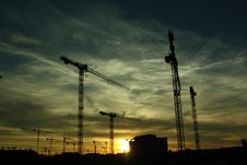 Free Construction Site At Sunset Stock Images - 83077214