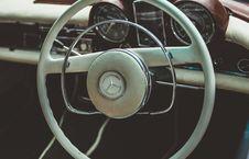 Free Vintage White Mercedes Steering Wheel Royalty Free Stock Photo - 83077225