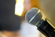 Free Close Up Of Microphone Stock Photos - 83077343
