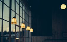 Free Brown And Black Drop Light Inside Building At Daytime Royalty Free Stock Photos - 83077348