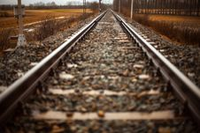 Free Close Up Of Railroad Stock Photography - 83077462