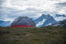 Free Camping Tent In Mountains Stock Images - 83077474