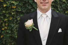 Free Man In Black Formal Suit With White Necktie Beside Green Bush In Shallow Focus Photography Royalty Free Stock Images - 83077719