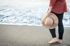 Free Woman On A Beach Royalty Free Stock Image - 83077726