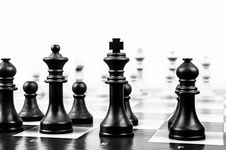 Free Wooden Black Chess Piece Stock Images - 83077984