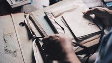Free Person Holding Files Royalty Free Stock Photo - 83078505
