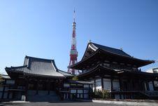 Free Tokyo Tower Behind Black And White Dojo Building During Daytime Royalty Free Stock Image - 83078696