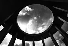 Free Grayscale Photo Of A Round Building With Hole Royalty Free Stock Image - 83078746