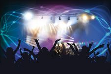 Free People At Concert Royalty Free Stock Image - 83078806