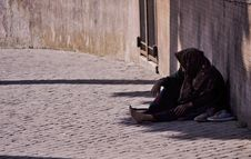 Free Street Beggar Royalty Free Stock Photography - 83078837