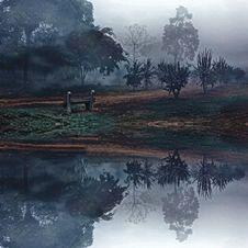 Free Idyllic Landscape With Fog Royalty Free Stock Image - 83078886