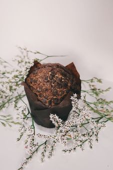 Free Chocolate Muffin Top With Chocolate Chips Stock Image - 83078991