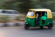 Free Green And Yellow 3 Wheeled Vehicle Royalty Free Stock Photos - 83079678