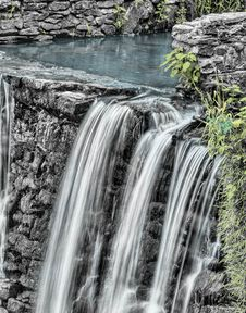 Free Waterfalls And Gray Stone Near Green Grass Royalty Free Stock Photo - 83086845
