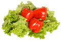 Free Red Pepper On Salad Stock Images - 8317164