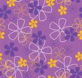 Free Flowers On Violet Background Stock Image - 8318331