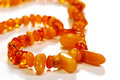 Free Beads, Necklace Made Of Amber Stock Images - 8318774
