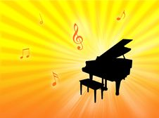 Free Piano Background Royalty Free Stock Image - 8310066