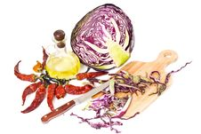 Free Vegetable Salad Of Cabbage Royalty Free Stock Images - 8310259