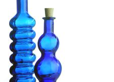 Free Blue Bottles Royalty Free Stock Images - 8310559