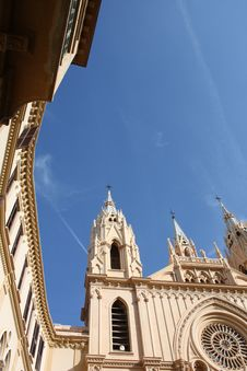 Free Church And Sky ( Malaga , Spain ) Royalty Free Stock Photo - 8311135