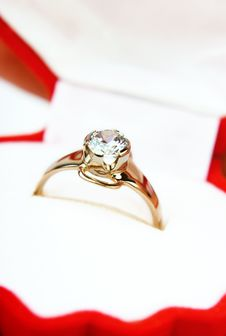 Free Diamond Ring As A Present Stock Photos - 8311503
