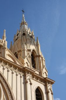 Free Church Tower ( Malaga , Spain ) Royalty Free Stock Images - 8311619