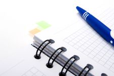 Blank Notebook With Blue Pen Royalty Free Stock Images