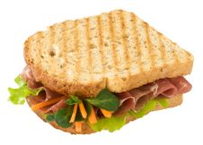 Free Toast With Ham And Vegetables Stock Photography - 8312282