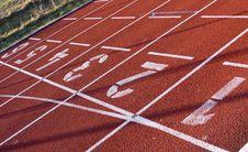 Free Starting Lane Royalty Free Stock Photo - 8312645