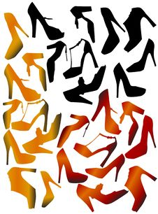 Free Shoes Vector Royalty Free Stock Images - 8313259