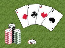 Free Aces Poker Royalty Free Stock Image - 8313326