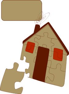 Free Puzzle House And One Piece Royalty Free Stock Photo - 8313625