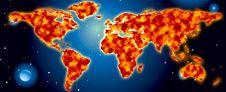 Free World Map Royalty Free Stock Photo - 8314175