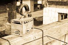 Old Serbian Iron Stock Image