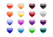 Free Heart Shape Buttons Royalty Free Stock Image - 8314616