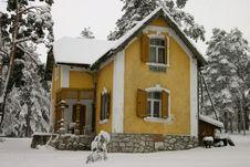 Serbian Mountain House Royalty Free Stock Photos