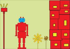 Free Red Robot Royalty Free Stock Photo - 8314905