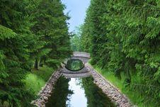 Free Bridge Across Stream Royalty Free Stock Photography - 8315967